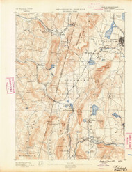 Pittsfield, Massachusetts 1890 (1890) USGS Old Topo Map Reprint 15x15 MA Quad 352934
