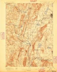 Pittsfield, Massachusetts 1897 (1897) USGS Old Topo Map Reprint 15x15 MA Quad 352937