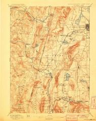 Pittsfield, Massachusetts 1897 (1908) USGS Old Topo Map Reprint 15x15 MA Quad 352940