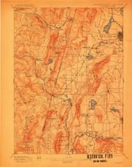 Pittsfield, Massachusetts 1897 (1912) USGS Old Topo Map Reprint 15x15 MA Quad 352942