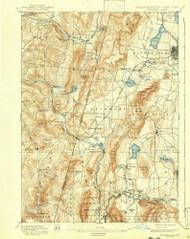Pittsfield, Massachusetts 1897 (1943) USGS Old Topo Map Reprint 15x15 MA Quad 352932