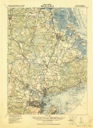 Salem, Massachusetts 1919 (1919) USGS Old Topo Map Reprint 15x15 MA Quad 353010