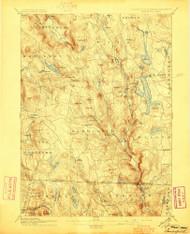 Sandisfield, Massachusetts 1897 (1897) USGS Old Topo Map Reprint 15x15 MA Quad 331155