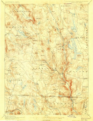 Sandisfield, Massachusetts 1897 (1901) USGS Old Topo Map Reprint 15x15 MA Quad 331156