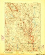Sandisfield, Massachusetts 1897 (1905) USGS Old Topo Map Reprint 15x15 MA Quad 331157