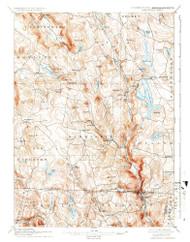 Sandisfield, Massachusetts 1897 (1937) USGS Old Topo Map Reprint 15x15 MA Quad 461259