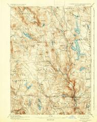 Sandisfield, Massachusetts 1897 (1937) USGS Old Topo Map Reprint 15x15 MA Quad 353013