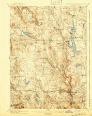 Sandisfield, Massachusetts 1897 (1943) USGS Old Topo Map Reprint 15x15 MA Quad 353015