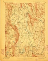 Sheffield, Massachusetts 1897 (1911) USGS Old Topo Map Reprint 15x15 MA Quad 353024