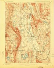 Sheffield, Massachusetts 1897 (1915) USGS Old Topo Map Reprint 15x15 MA Quad 353025