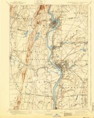 Springfield, Massachusetts 1895 (1940) USGS Old Topo Map Reprint 15x15 MA Quad 353034