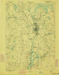Taunton, Massachusetts 1893 (1893) USGS Old Topo Map Reprint 15x15 MA Quad 353059