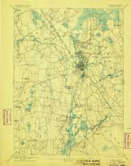 Taunton, Massachusetts 1893 (1905) USGS Old Topo Map Reprint 15x15 MA Quad 353063