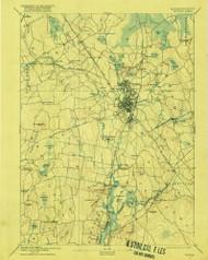 Taunton, Massachusetts 1893 (1916) USGS Old Topo Map Reprint 15x15 MA Quad 353067