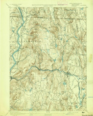 Warwick, Massachusetts 1894 (1894) USGS Old Topo Map Reprint 15x15 MA Quad 353076