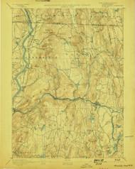Warwick, Massachusetts 1894 (1898) USGS Old Topo Map Reprint 15x15 MA Quad 353077