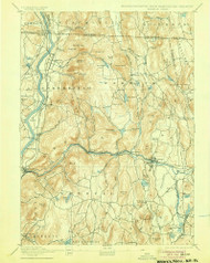 Warwick, Massachusetts 1894 (1905) USGS Old Topo Map Reprint 15x15 MA Quad 353078