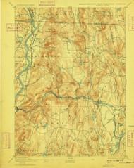 Warwick, Massachusetts 1894 (1909) USGS Old Topo Map Reprint 15x15 MA Quad 353079