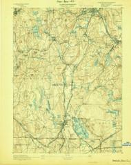 Webster, Massachusetts 1892 (1892) USGS Old Topo Map Reprint 15x15 MA Quad 353087
