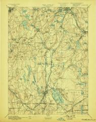 Webster, Massachusetts 1892 (1899) USGS Old Topo Map Reprint 15x15 MA Quad 353088