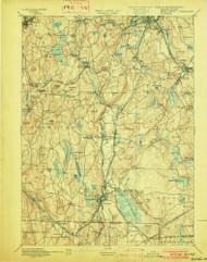 Webster, Massachusetts 1892 (1902) USGS Old Topo Map Reprint 15x15 MA Quad 353089