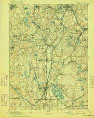 Webster, Massachusetts 1892 (1916) USGS Old Topo Map Reprint 15x15 MA Quad 353092