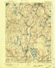 Webster, Massachusetts 1892 (1943) USGS Old Topo Map Reprint 15x15 MA Quad 353084