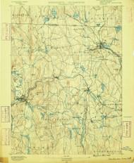 Winchendon, Massachusetts 1890 (1890) USGS Old Topo Map Reprint 15x15 MA Quad 353120