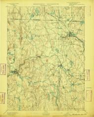 Winchendon, Massachusetts 1894 (1894) USGS Old Topo Map Reprint 15x15 MA Quad 353121