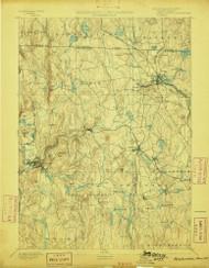 Winchendon, Massachusetts 1894 (1898) USGS Old Topo Map Reprint 15x15 MA Quad 353122