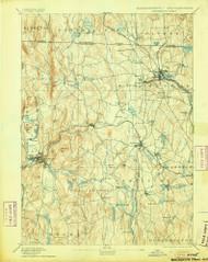 Winchendon, Massachusetts 1894 (1905) USGS Old Topo Map Reprint 15x15 MA Quad 353123