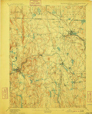 Winchendon, Massachusetts 1894 (1910) USGS Old Topo Map Reprint 15x15 MA Quad 353125