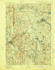 Winchendon, Massachusetts 1894 (1924) USGS Old Topo Map Reprint 15x15 MA Quad 353127