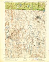Winchendon, Massachusetts 1935 (1935) USGS Old Topo Map Reprint 15x15 MA Quad 353112