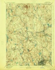 Worcester, Massachusetts 1892 (1924) USGS Old Topo Map Reprint 15x15 MA Quad 353138
