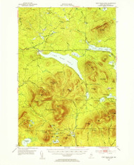 First Roach Pond, Maine 1952 (1955) USGS Old Topo Map Reprint 15x15 ME Quad 460394