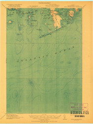 Great Wass Island, Maine 1921 (1921) USGS Old Topo Map Reprint 15x15 ME Quad 807522
