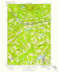 Guilford, Maine 1933 (1958) USGS Old Topo Map Reprint 15x15 ME Quad 460470