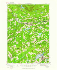 Guilford, Maine 1933 (1961) USGS Old Topo Map Reprint 15x15 ME Quad 460471