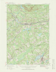Guilford, Maine 1933 (1971) USGS Old Topo Map Reprint 15x15 ME Quad 306600