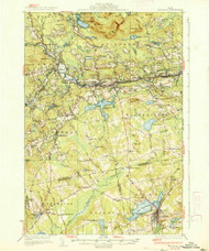 Guilford, Maine 1937 (1937) USGS Old Topo Map Reprint 15x15 ME Quad 460468