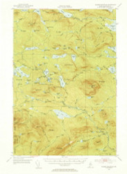 Jo-Mary Mountain, Maine 1952 (1953) USGS Old Topo Map Reprint 15x15 ME Quad 306613