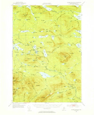 Jo-Mary Mountain, Maine 1952 (1955) USGS Old Topo Map Reprint 15x15 ME Quad 460499