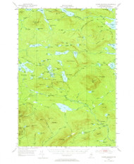 Jo-Mary Mountain, Maine 1952 (1964) USGS Old Topo Map Reprint 15x15 ME Quad 460500