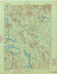 Newfield, Maine 1891 (1891) USGS Old Topo Map Reprint 15x15 ME Quad 807586