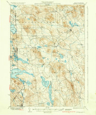 Newfield, Maine 1937 (1937) USGS Old Topo Map Reprint 15x15 ME Quad 460653
