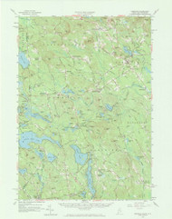 Newfield, Maine 1958 (1973) USGS Old Topo Map Reprint 15x15 ME Quad 306678
