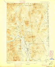 North Conway, New Hampshire 1896 (1896) USGS Old Topo Map Reprint 15x15 ME Quad 330267