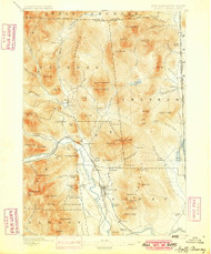 North Conway, New Hampshire 1896 (1899) USGS Old Topo Map Reprint 15x15 ME Quad 330268