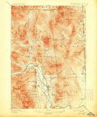 North Conway, New Hampshire 1896 (1913) USGS Old Topo Map Reprint 15x15 ME Quad 330271